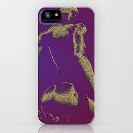 Golden Seated Goddess purple version iPhone Case