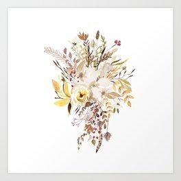 Pretty Autumn Flower Bouquet Art Print