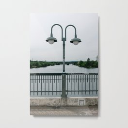 On the bridge Metal Print