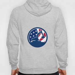 American Excavator USA Flag Icon Hoody