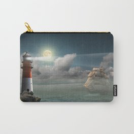 Lighthouse Under Back Light Carry-All Pouch
