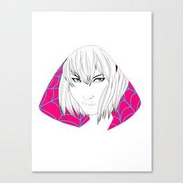 Gwen Stacy B&W Canvas Print
