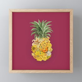 Pineapple Pink Framed Mini Art Print