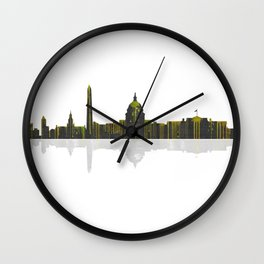 Washington DC Skyline BW 1 Wall Clock