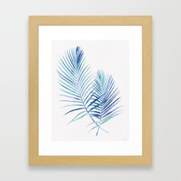 Feathery Palm Leaves Framed Art Print