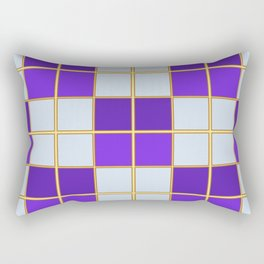 Purples and blues check Rectangular Pillow