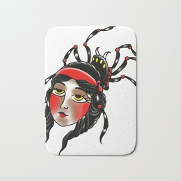 Black widow Bath Mat