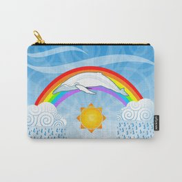 The Rainbow Whale Carry-All Pouch