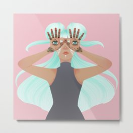 Hamsa: Hand of Fatima Metal Print
