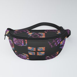 Square and flowers Fanny Pack