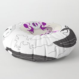 Yin and Yang (with ornamentation) Floor Pillow