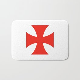 templar knights cross Bath Mat