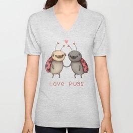 Love Pugs Unisex V-Neck