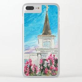 Helsinki Finland LDS Temple Clear iPhone Case