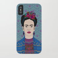 frida kahlo iPhone & iPod Cases featuring Frida Kahlo by Bianca Green