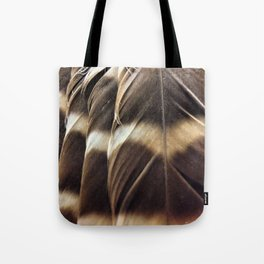 Barred Owl Feathers Tote Bag