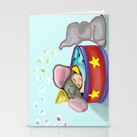 baby elephant Stationery Cards featuring Baby Elephant  by grapeloverarts
