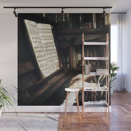 Music. The piano lesson. Wall Mural