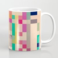 quilt Mugs featuring quilt by spinL