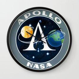Apollo mission logo 01 Wall Clock