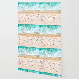 Drone shot of Manhattan beach Wallpaper