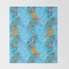 Sweet Lovey Birdies Throw Blanket