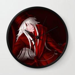 Undertaker in Red Wall Clock
