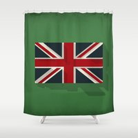 union jack Shower Curtains featuring Union by rob art | simple