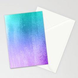 Peal to purple ombre shimmering background Stationery Cards