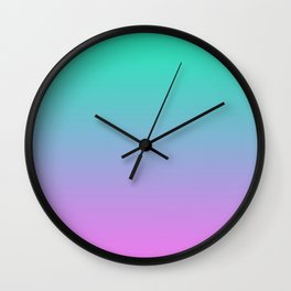 Pink turquoise , blue Ombre Wall Clock