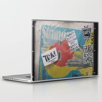 newspaper Laptop & iPad Skins featuring Newspaper box Freemont Seattle by RMK Photography