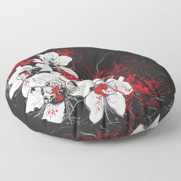 Rouge et Noir Floor Pillow