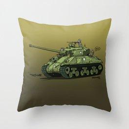 Dogs of War: Sherman Tank Throw Pillow