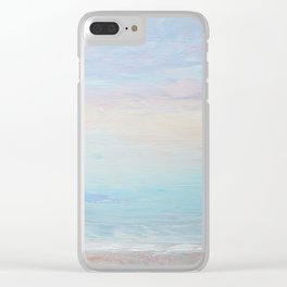 Subtle Sunrise Clear iPhone Case