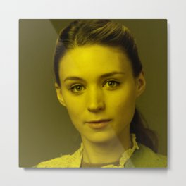 Rooney Mara - Celebrity (Florescent Color Technique) Metal Print