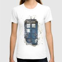 tardis T-shirts featuring Tardis by Zhavorsa