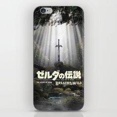 Master Sword in Ruins Zelda Poster iPhone & iPod Skin