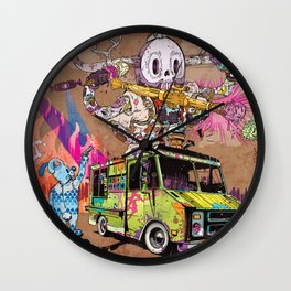 Pusher Carcophagus Wall Clock