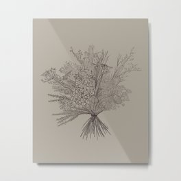 Bunch It (sage) Metal Print