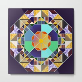 Octagonal geometric pattern abstract Metal Print