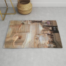 A Favourite Custom 1909 by Sir Lawrence Alma Tadema | Reproduction Rug