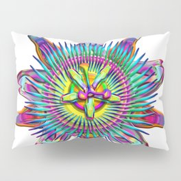 """Passiflora The """"Passion Flower"""" Psyhcedelic Abstract Pillow Sham"""