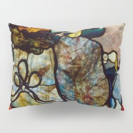"Henri de Toulouse-Lautrec ""Papa Chrysanthème at the New Circus"" stained glass Pillow Sham"