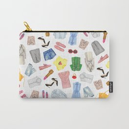 Fashion pattern | Glam pattern | dresses and lipstick | Pretty pattern Carry-All Pouch