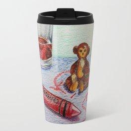 Crayon Love My Monkey is up to Something Travel Mug
