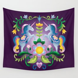 The Royal Society Of Cute Unicorns Wall Tapestry