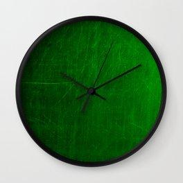 green scratches Wall Clock