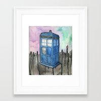 tardis Framed Art Prints featuring tardis by Stas G