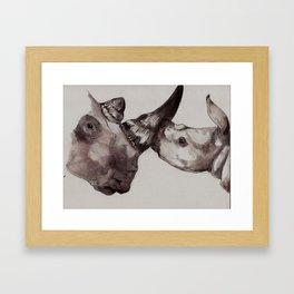 Rhino Love Framed Art Print