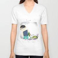 best friends V-neck T-shirts featuring Best Friends by famenxt